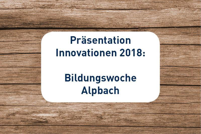 SIHGA Innovationen Alpbach